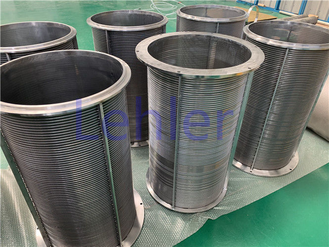 Waste Water Treatment Wedge Wire Screens 200 Micron Slot 360 X 660mm